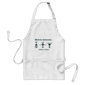 Funny Winter Exercises Standard Apron