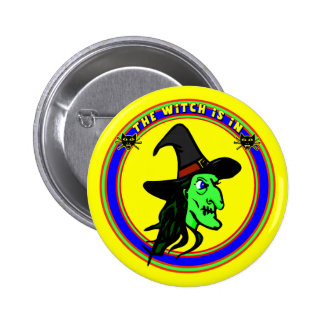 Funny Witch Buttons