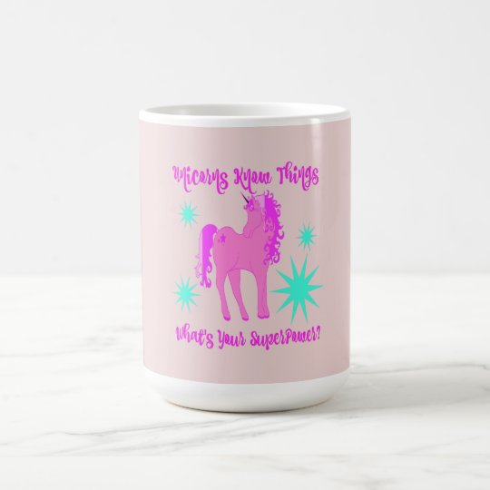 Funny/Witty Mug With Unicorn