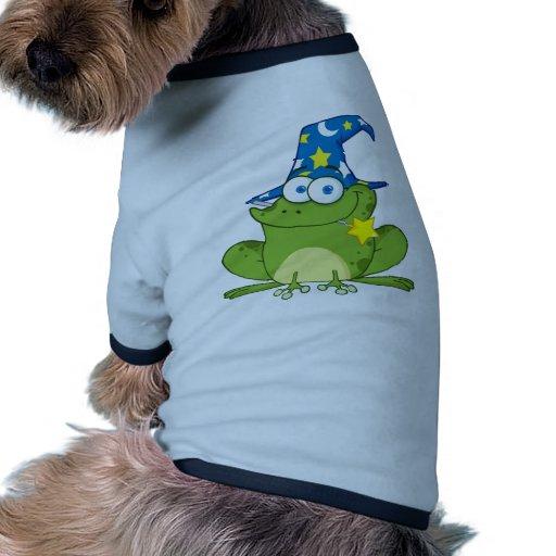 Funny Wizard Frog Doggie Tshirt
