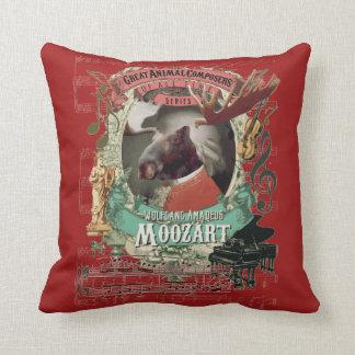 Funny Wolfgang Amadeus Moozart Animal Mozart Joke Cushion