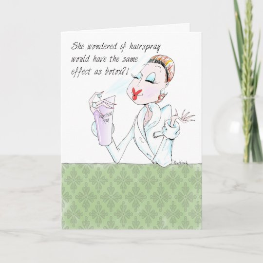Funny Woman Humour Birthday Card For Women Only Zazzle