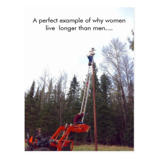 Funny Women (Woman) VS Men Postcard, Postcrossing Postcard