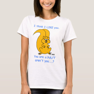 Funny Womens' Squirrel Lover Cartoon T-Shirt