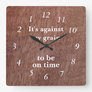 Funny Wood Grain Backwards Clock Mango Custom