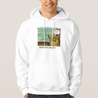 Funny Woodchuck Physics Hoodie by Rick London