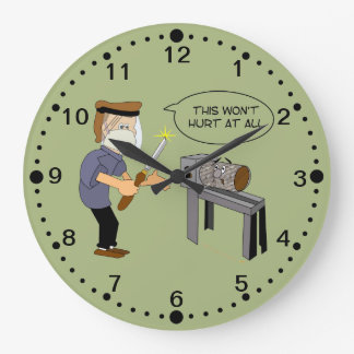 Funny Woodturning Cartoon Clock with Minutes