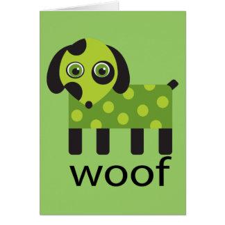 Funny Woof Dog Card Greeting Card