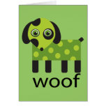 Funny Woof Dog Card Greeting Card