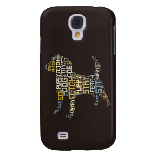 Funny Word Cloud Dog Sit Stay Fetch Obedience Galaxy S4 Case