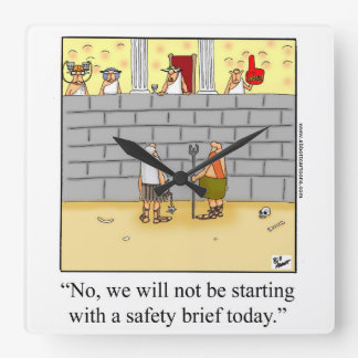 """Funny """"Work Safety"""" Humor Wall Clock"""
