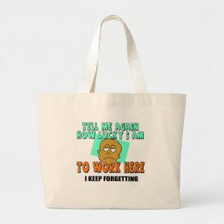 Funny Work T-shirts Gifts Jumbo Tote Bag