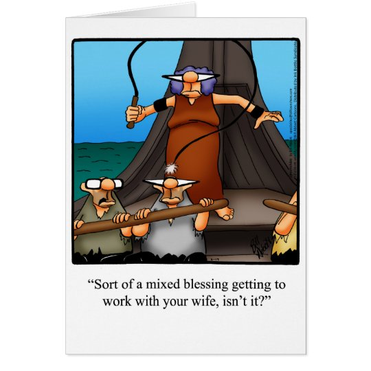 """Funny """"Working Couple"""" Humour Greeting Card"""