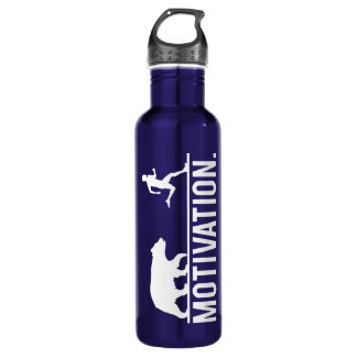 Funny Workout Motivation - Bear Chasing Jogger 710 Ml Water Bottle
