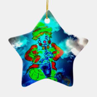 Funny world ceramic star decoration