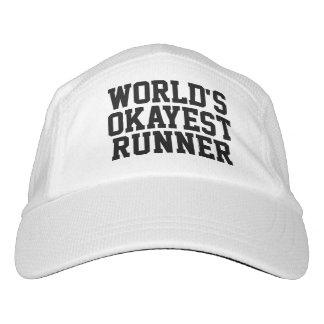 Funny World's Okayest Runner Running Hat
