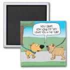 Funny Wrinkly Shar-Pei Dog Fridge Magnet