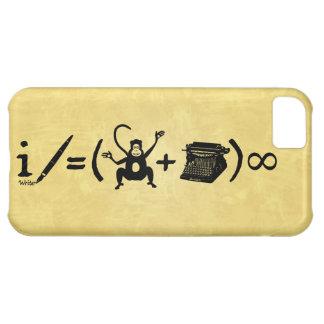 Funny Writer Monkey Typewriter Equation iPhone 5C Case