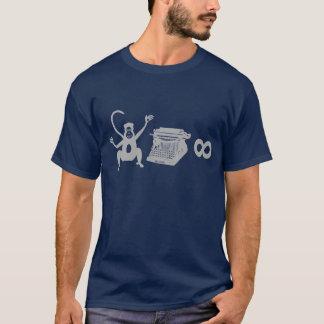 Funny Writer Monkey Typewriter Infinity T-Shirt