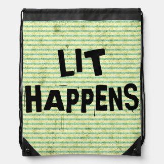 Funny Writer Reader Lit Happens Backpacks