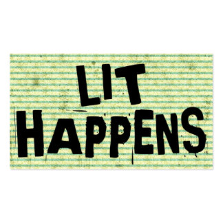 Funny Writer Reader Lit Happens Double-Sided Standard Business Cards (Pack Of 100)