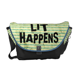 Funny Writer Reader Lit Happens Courier Bags