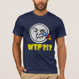 "Funny ""WTF?!?"" Old Man Moon Get Rocket in His Eye T-Shirt"