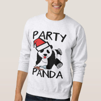 Funny Xmas Party panda Sweatshirt