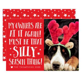 Funny Xmas Quote Pets Christmas Greeting Flat Card 13 Cm X 18 Cm Invitation Card