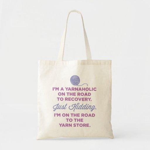 Funny Yarnaholic Tote Bag