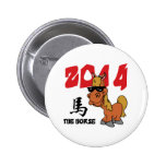 Funny Year of The Horse 2014 Button