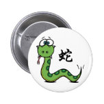 Funny Year of The Snake 6 Cm Round Badge