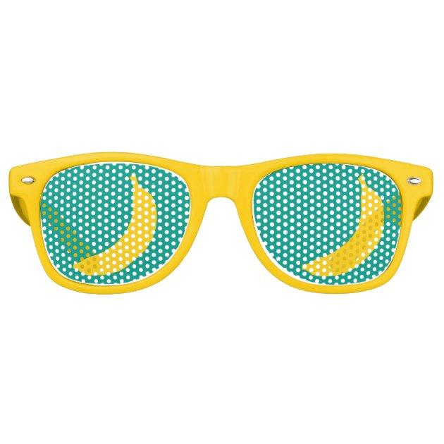 Funny Yellow Banana Fruit Party Shades Sunglasses Zazzle Co Uk