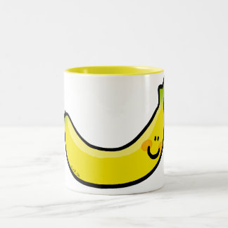 Funny yellow banana Two-Tone coffee mug