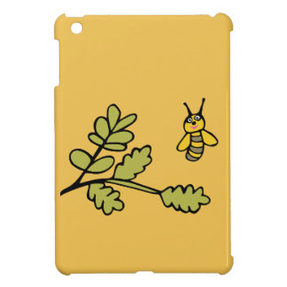 Funny yellow Bee and Leaves Case For The iPad Mini