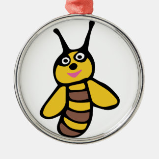 Funny yellow Bee Christmas Ornament