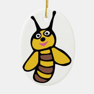 Funny yellow Bee Christmas Ornament