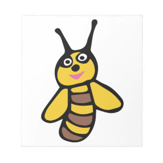 Funny yellow Bee Notepad