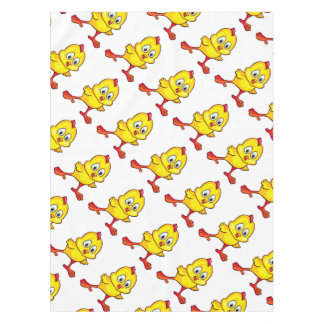 Funny yellow chicks tablecloth