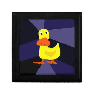 Funny Yellow Duck Art Gift Box