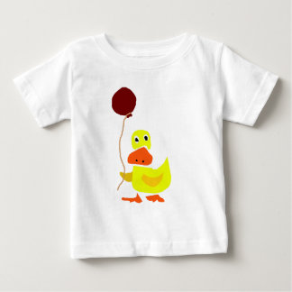 Funny Yellow Duck Holding Red Balloon T-shirts