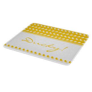 Funny yellow ducky cutting board