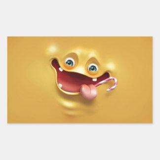 Funny Yellow Face Rectangular Sticker