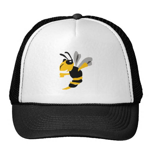 Funny Yellow Jacket Primitive Art Hats