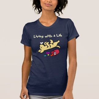 Funny Yellow Labrador Cartoon T-Shirt