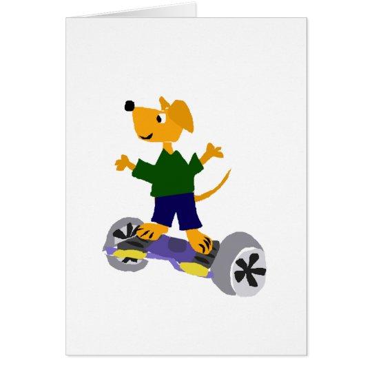 Funny Yellow Labrador Retriever Dog on Segway Card