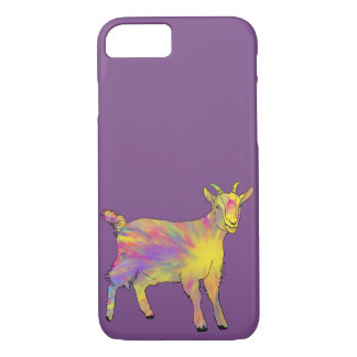 Funny Yellow Psychedelic Goat Animal Art Design iPhone 8/7 Case