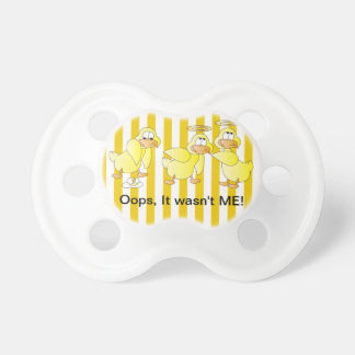 Funny Yellow Stripes Ducks and Goose Pacifiers
