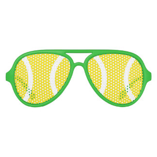 Funny yellow tennis ball party shades