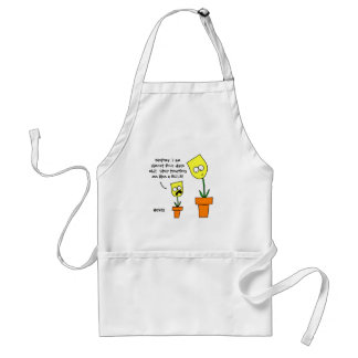 Funny Yellow Tulips Cartoon Mother Daughter Humor Standard Apron